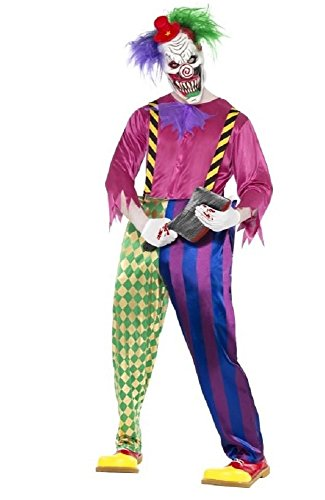 Psycho Killer Clown Kostüm - Fancy Me Herren Pyscho Clown Sinister