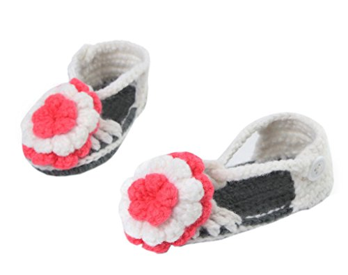 Bigood Chaussure Bébé Unisexe Tricot Sandales Souple Fleur Eté