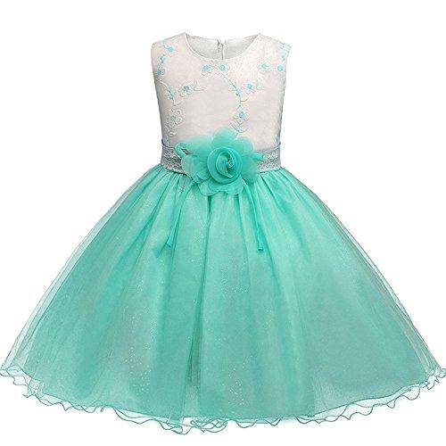 Bozevon bambina abito principessa vestito da bowknot floreale abiti per la matrimonio carnevale natale regalo
