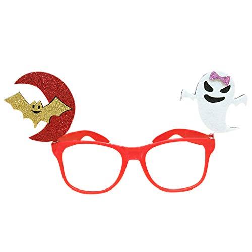 Tandou Halloween Brille, Kürbisschläger, Geist, Tricky Eyewear Party Kostüm Streich-Requisiten Spaß - Geist Kostüm Streich