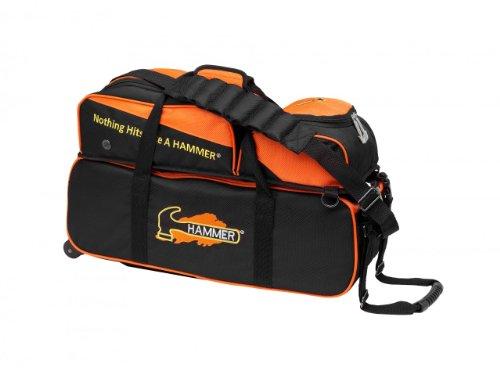 HAMMER Triple Bowlingtasche, Schwarz (Roller Bag Gym)