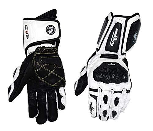 OFAY Robuste wasserdichte Winter-Ski-Handschuhe Fahren Motorrad, Rennwagen, Skifahren, Rodeln, Snowboard |,Weiß,L