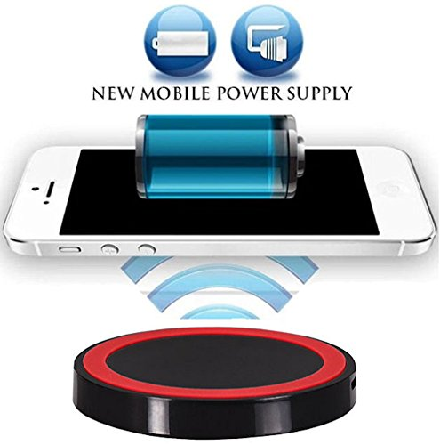 Wireless Ladegerät Induktive - Ladestation Qi Charger Galaxy Note8, Apple iPhone X, iPhone 8, iPhone 8 Plus, Samsung Galaxy S8, Galaxy S8 Plus, Galaxy S3, Galaxy S5, Galaxy S6 Edge, Samsung Galaxy S6, Samsung Galaxy S7, Samsung Galaxy S7 Edge, Samsung Galaxy Note 5, ZTE Grand S, Sony Xperia Z3, Sony Xperia Z4, LG G5, LG Google Nexus 5, Google Nexus 5, Google Nexus 6, Google Nexus 7 Google Nexus 7 HD Microsoft Lumia 735, Microsoft Lumia 950, Microsoft Lumia 950 XL, Motorola Moto 360 (Apple G5 Tastatur Bluetooth)