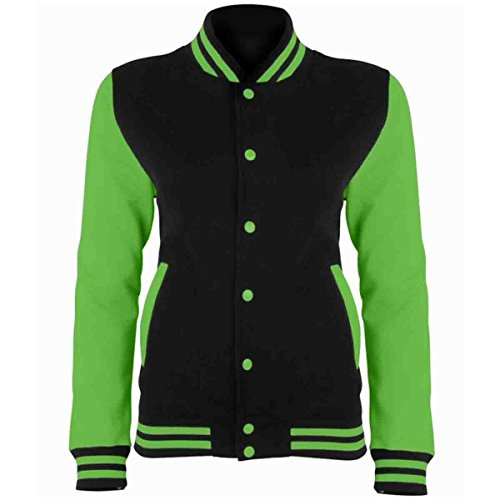 AWDis Herren Jacke - Jet Black/ Electric Green
