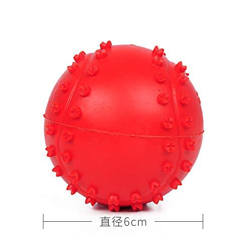 ZUOZUOZUO Hundebedarf Spielzeug Golden Resilience Biss Ball Haustier Teddy Training Gummi Molar Hund Molar Rod Welpen Fehlende Nahrung Φ6Cm -