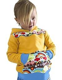 0076f5f17930 TIMEMEAN Felpa con Cappuccio Arcobaleno Manica Lunga da Neonato per Bambina  e per Ragazza