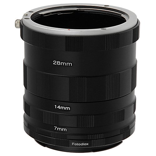 Fotodiox Canon EOS Macro Extension Tube Set for Extreme Close-Ups Digital Extension Tube Set