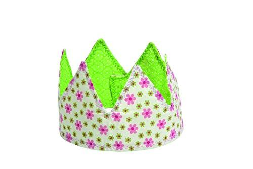 Helga Kreft  60003 - Stoffkrone Blümchen, floral, bunt, Hüte und weitere Kopfbedeckungen -