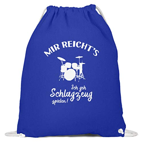 r: Ich geh Schlagzeug spielen! - Baumwoll Gymsac -37cm-46cm-Royales Blau ()