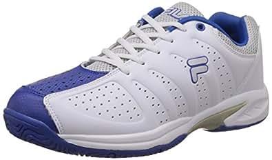 Fila Men's Alternate White and Royal Blue Tennis Shoes -11 UK/India (45 EU)