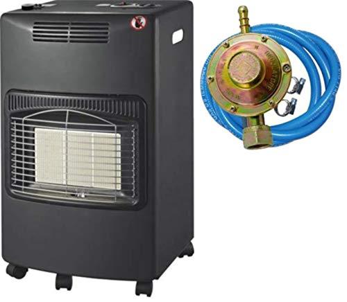 Stufa gas infrarossi ventilata 4,2 Kw + Termoventilatore Domus Kali sensore O2 REGOLATORE TUBO FASCETTE OMAGGIO