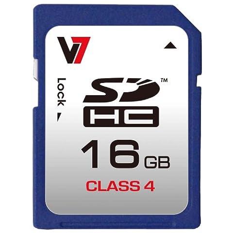 V7 VASDH16GCL4R-2E SDHC Memory Card 16GB Class 4