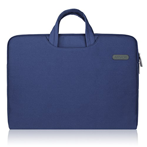 Arvok 17 17,3 Zoll Laptoptasche Aktentasche Wasserfest Laptophülle, Denim Blau