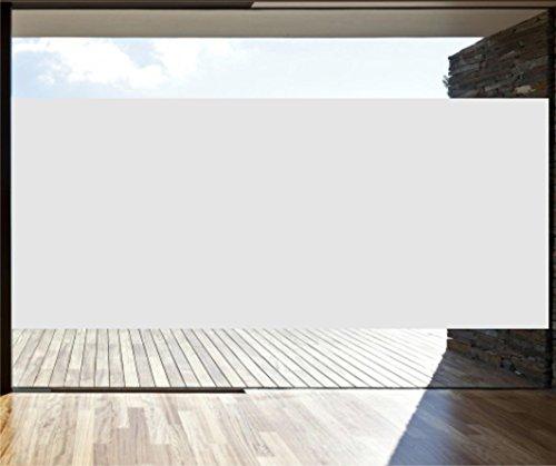 INDIGOS UG - Glasdekorfolie - Fensterschutzfolie - Sonnenschutzfolie - 30,75 cm Höhe silber matt - Meterware -