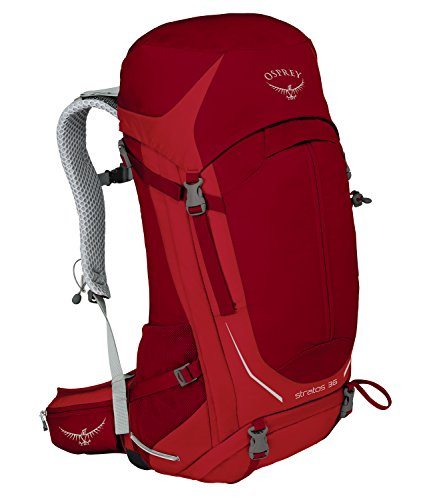 Osprey Herren Stratos Backpack, 63 x 33 x 31 cm, 36 Liter Rot