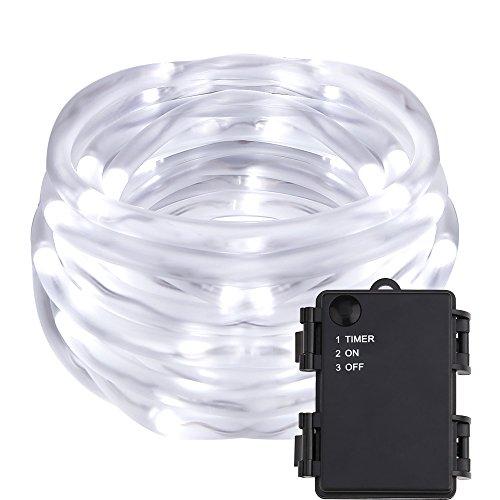LE 5M LED Lichterschlauch, kaltweiß led strip, Batteriebetrieb Lichterkette, Lichtschläuche, deko Beleuchtung für Hochzeit, Party, Kaltweiß