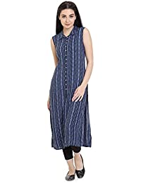 Identiti Women's Wrap Kurta(557-80024-15 _Blue_Small)