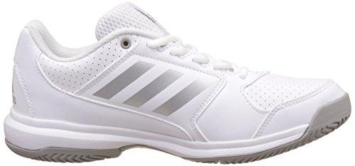 adidas Damen Adizero Attack Tennisschuhe Elfenbein (Ftwr Whitesilver Metallicmgh Solid Grey)