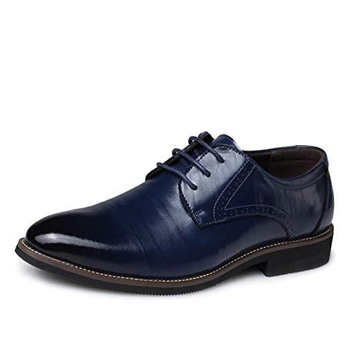 Feidaeu Herren Business Schuhe für Herren Ledermode Flache Schuhe mit flachen Punkt städtischen Arbeitsschuhe - Leder Herren Mützen Flache Für