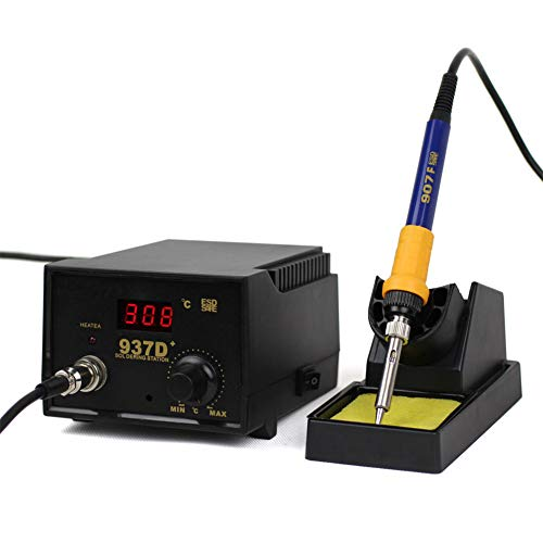 Premium-Lötstation 60W Professionell Lötkolben Set,YIYIBY Lötstation Lötkolben Heißluftlötstation die digitale LED-Anzeige WEP 937D+ Entlötkolben Entlötstation