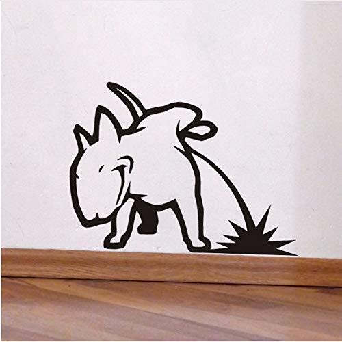 LTTGG Pissing Bull Terrier Vinyl Wandaufkleber Kunst 45x56cm