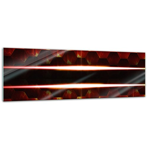 Glasbild - Abstrakte Kunst XLVIII - 120x40 cm - Deko Glas - Wandbild aus Glas - Bild auf Glas - Moderne Glasbilder - Glasfoto - Echtglas - kein Acryl - Handmade