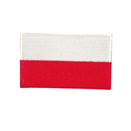 Cobra Tactical Solutions Military Besticktes Patch Polen/Poland Flagge mit Klettverschluss für Airsoft/Paintball für Taktische Kleidung/Rucksack -