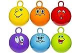 wuselwelt 4743, Kinderhüpfball 45 cm, mit Lach Gesichtern, Lachgesicht, Kinder Hüpfball, Springball, Macht Nicht nur Spass, trainiert auch gleichzeitig