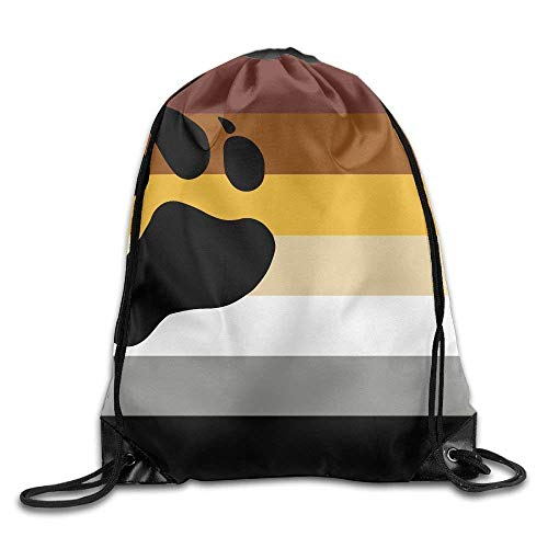 cdd95415d312 ZHIZIQIU 3D Print Drawstring Bags Bulk, Bear Gay Pride Flag Unisex Home  Sack Bag Sport Drawstring Backpack Bag for Men Women Size: 4133cm