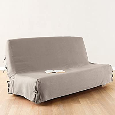 Sofa bed / Futon cover - 100 % cotton - colour BEIGE