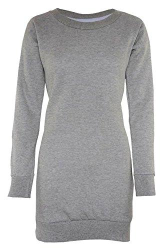 Chocolate Pickle® Nouveau Aux Femmes Imprimé Sweat-Shirt Pulls Mini Tops 36-50 Grey