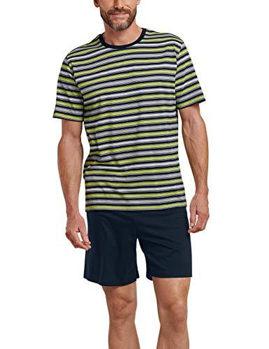 Schiesser Herren Kurz Zweiteiliger Schlafanzug, Gelb (Zitrone 601), Small (Herstellergröße: 048)