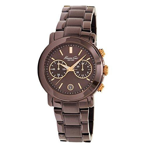 Kenneth Cole KC4802 - Reloj analógico de Cuarzo para Mujer con Correa de Acero Inoxidable, Color marrón...