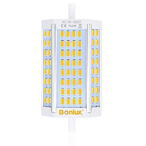 Bonlux 30W R7S lineare del tubo 118mm Lampada a LED Dimmerabile Bianco Calda 3000K 200 Gradi 118mm R7S Lampadine J Tipo J118 R7s la Sostituzione della Lampada 300W Alogena (Senza Ventola)