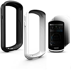 TUSITA [2-PACK] Cubierta protectora para Garmin Edge 1030, Accesorios para computadora GPS Bike Funda protectora para pantalla táctil con protector de