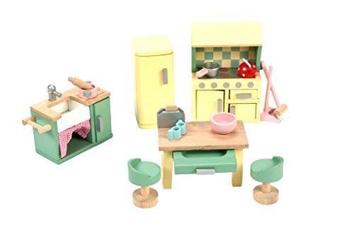 Rosenknospe Küche aus Holz Zubehör Puppenhausmöbel PUPPENHAUS ZUBEHÖR
