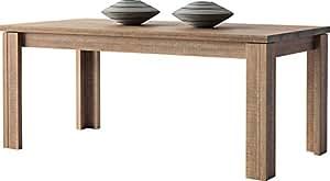 Table à manger rectangulaire chêne 2 allonges L160 DERBY