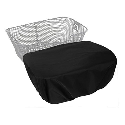 MadeForRain Extra große, wasserdichte Regenhülle/Abdeckung für Fahrradkörbe CityTurtle XL - Tiefschwarz