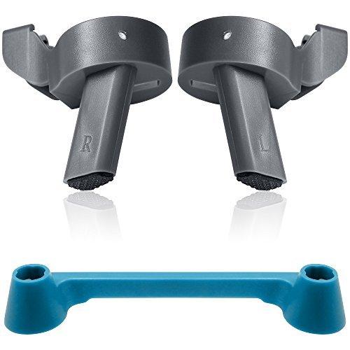 Landing Gear Beine für DJI Mavic Pro mit Joystick Protektoren, FineGood 2 Pack Safe Hintere Bein Stabilisator Mount mit Daumenstock Rocker Guard Schutzhülle für Fernbedienung - Grau