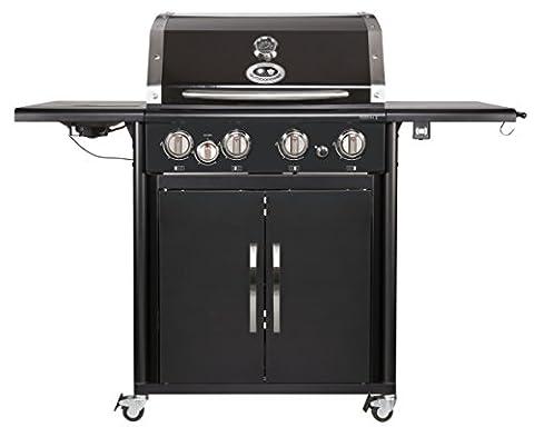 Outdoorchef PERTH 4G + schwarz BBQ Gasgrill Grillstation, 4 Brenner,
