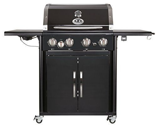 Outdoorchef PERTH 4G + schwarz BBQ Gasgrill Grillstation, 4 Brenner, 18.131.29
