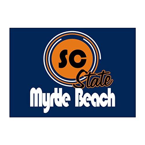 Teeburon Myrtle Beach Aufkleber Packung x4