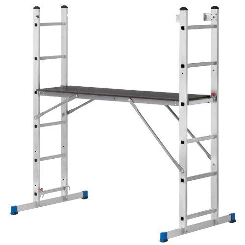 pro-bau-tec Aluminium Arbeitsgerüst und Leiterkombination, 10030