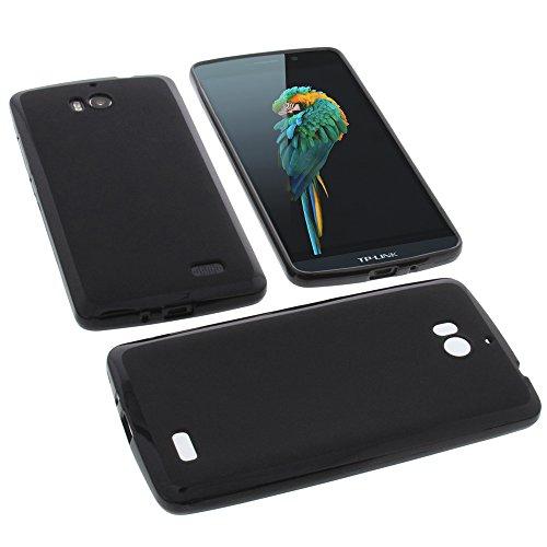 Funda para TP-Link Neffos C5 Max protectora de goma TPU para móvil negra
