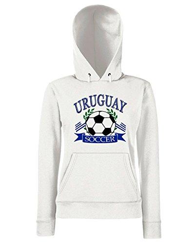 T-Shirtshock - Sweats a capuche Femme WC0120 URUGUAY LA CELESTE Blanc