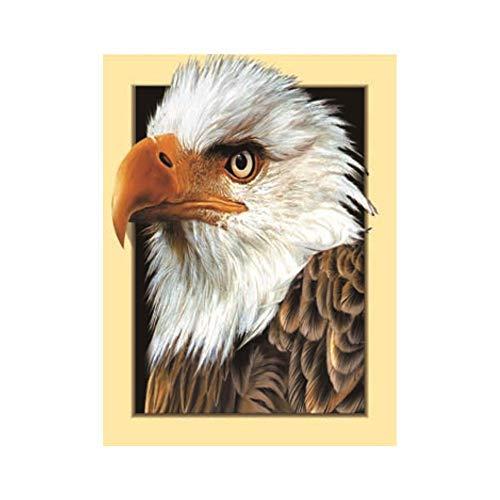 Gestickte Adler (WJQKA Adler Gemalt Gestickten Diamanten Runden Kristall Stickerei Handwerk Nach Hause Wanddekoration Malerei Kreuzstich)