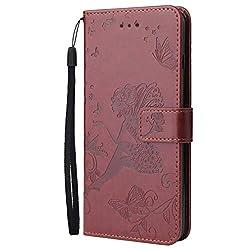 Karomenic PU Leder Hülle kompatibel mit iPhone XS Max Engel Mädchen Glänzend Glitzer Diamant Handyhülle Brieftasche Schutzhülle Klapphülle Ledertasche Tasche Wallet Flip Case Etui - Brown