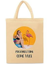 My Custom Style Shopper Personalizzata con Stampa, Cotone 145gr Beige 38x42 M35