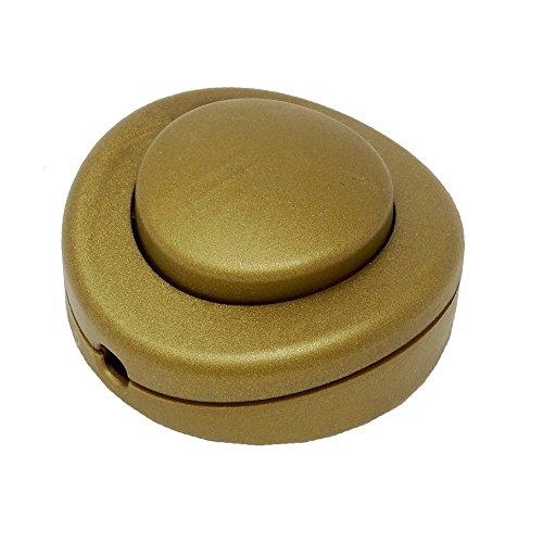 Soporte Pedal Interruptor Oro Diámetro 65x 30250V/2A para cable redondo Interruptor de...