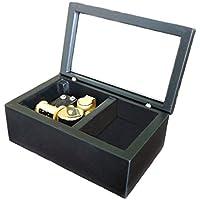 Preisvergleich für FnLy Spieluhr zum Aufziehen aus Holz, Kleine Größe, mit Spieluhr, Geschenk und Spieluhr Schwarz/goldfarben